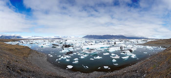 Jokulsarlon Lagoon Panorama Stock Photography