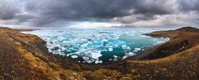 Jokulsarlon lagoon panorama Stock Images