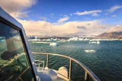 Jokulsarlon Lagoon tour Royalty Free Stock Image