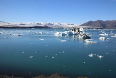 Jokulsarlon lagun iceland arkivfoton