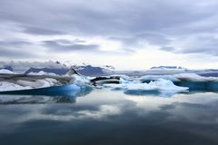 The Jokulsarlon lake Royalty Free Stock Photo