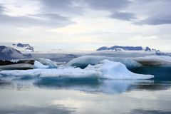 The Jokulsarlon lake. Is a glacial lake in Iceland Stock Images