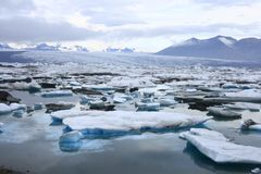 The Jokulsarlon lake Stock Photos