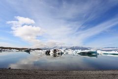 Jokulsarlon lake Stock Image