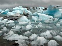 Jokulsarlon lake, Iceland II. Jokulsarlon lake at Iceland. Icebergs on the surface Royalty Free Stock Photography