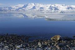 Jokulsarlon lake in winter Stock Photos