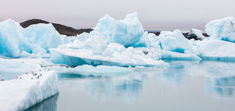 Jokulsarlon is a large glacial lake in southeast Iceland Royalty Free Stock Photo