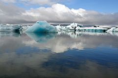 Jokulsarlon is the largest glacier in Iceland Stock Photography