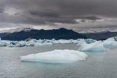 Jokulsarlon lodowa laguna w Iceland Zamyka Up góra lodowa Zdjęcia Royalty Free