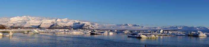 Jokulsarlon panorama. Jökulsárlón glacier lake panorama photo stock photos