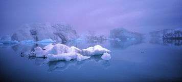 Jokulsarlon panoramic Stock Image