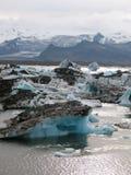 Jokulsarlon, schöne isländische Landschaft mit Gletscher Lizenzfreie Stockfotografie