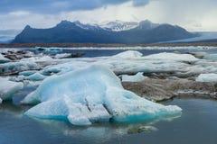 Jokulsarlon sjö, Island Arkivfoton