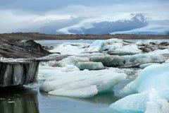 Jokulsarlon sjö, Island Arkivfoto