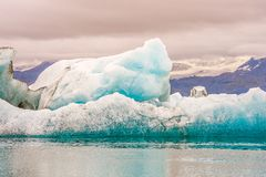 Jokulsarlon is- sjö Vatnajokull nationalpark iceland royaltyfri bild