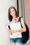 Joli étudiant prêt pour la classe Images libres de droits