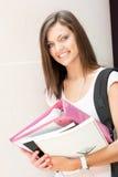 Joli étudiant prêt pour la classe Photos libres de droits