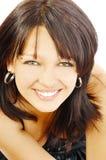 Joli brunette heureux de smilimg photographie stock libre de droits