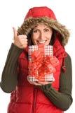 Joli cadeau de fixation de momie renonçant à des pouces Photos stock