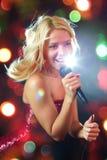 Joli chanteur Photographie stock libre de droits