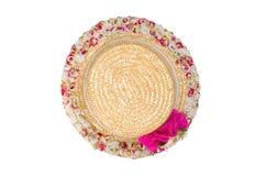 Joli chapeau de paille Photo stock