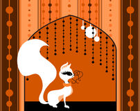 Joli chat à l'hublot Image libre de droits