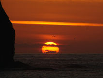 Joli coucher du soleil Photo libre de droits