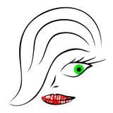 Joli femme illustration de vecteur
