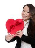 Joli femme au jour de Valentines Photos libres de droits