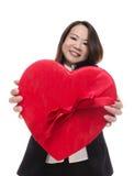 Joli femme au jour de Valentines Image stock