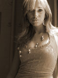 Joli femme avec le bijou Photo stock