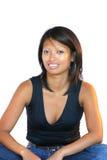 Joli femme dans la pose se reposante Photographie stock libre de droits