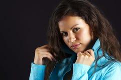 Joli femme du brunette Image stock