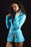 Joli femme, sur le fond noir Photographie stock libre de droits