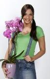 Joli jardinier photographie stock