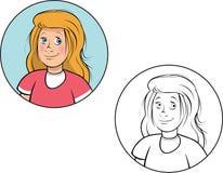 Joli livre de coloriage de fille Photo libre de droits