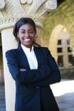 Joli professeur de femme à l'université Image libre de droits