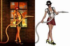 Joli sapeur-pompier illustration libre de droits