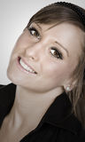 Joli sourire d'adolescent photographie stock libre de droits