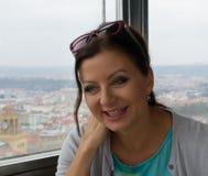 Joli sourire de femme Photographie stock libre de droits