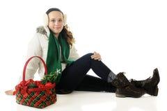 Joli Tween de Noël images libres de droits