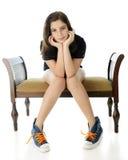 Joli Tween, pose difficile Image stock