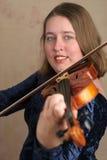 Joli violoniste 2 Photos stock