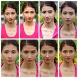 Joli visage d'un jeune collage femelle hispanique Photographie stock