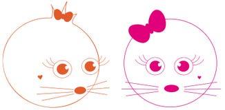 Joli visage de dessin animé Images stock