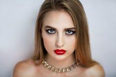 Joli visage de femme Photos stock