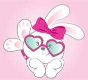 Jolie bande dessinée de fille de lapin de bébé Photos libres de droits