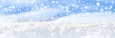 Jolie bannière de neige images stock