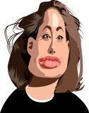 Jolie caricature Royalty Free Stock Photos