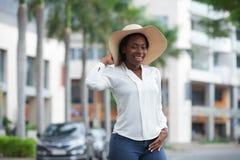 Jolie femme afro-américaine images stock